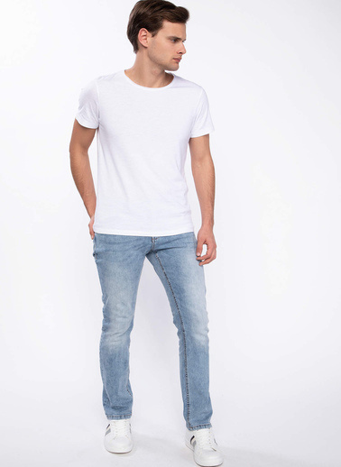 DeFacto Slim Fit Basic T-shirt Beyaz